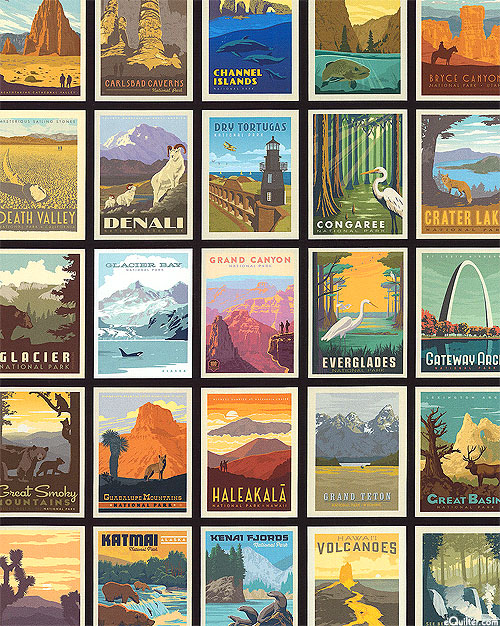 National Parks - Poster Collection - Black
