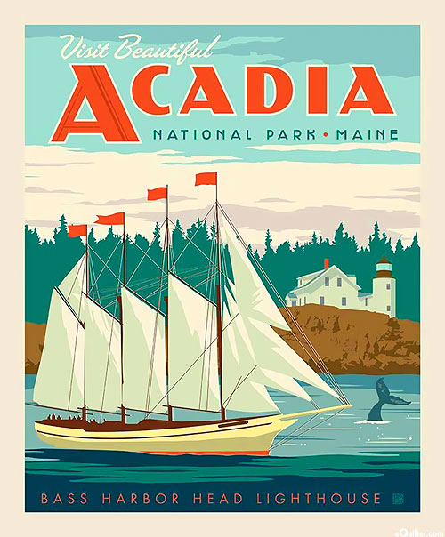 "National Parks - Acadia Maine - 36"" x 44"" PANEL"