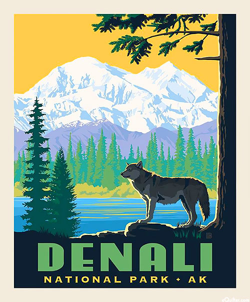 "National Parks - Denali Alaska - 36"" x 44"" PANEL"