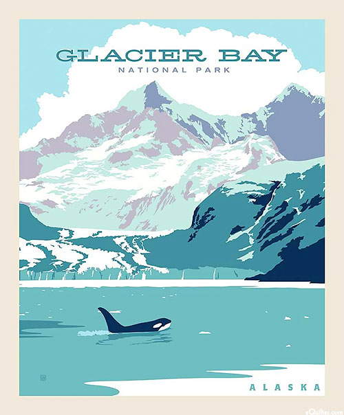 "National Parks - Glacier Bay Alaska - 36"" x 44"" PANEL"
