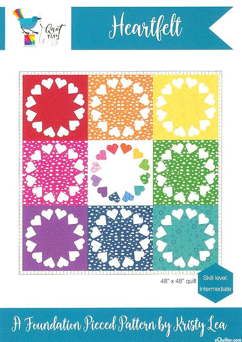 Heartfelt - Paper Piecing Pattern by Kristy Lea