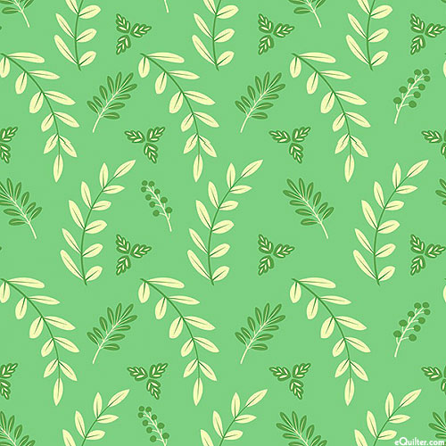 Poppy & Posey - Woodland Clippings - Kelly Green