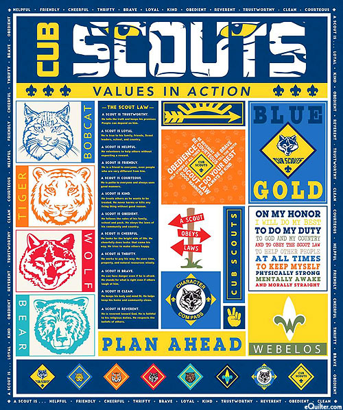 """Cub Scouts - Values in Action - 36"""" x 44"""" PANEL"""