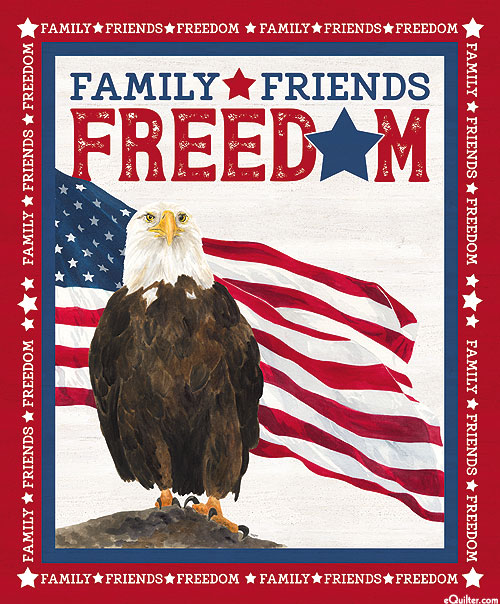 """Let Freedom Ring - Family, Friends & Freedom - 36"""" x 44"""" PANEL"""