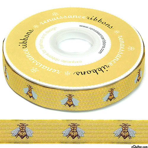 "Sweet Honeybee - 5/8"" Ribbon - Sunflower Yellow"