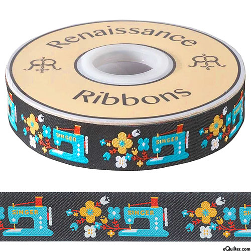 """Singer Sewing Machines - 7/8"""" Ribbon - Black"""