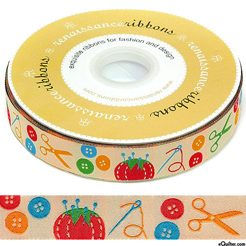"Sewing Supplies - 7/8"" Ribbon - Beige"