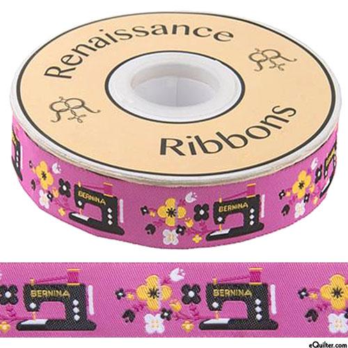 "Bernina Sewing Machines - 7/8"" Ribbon - Orchid Pink"