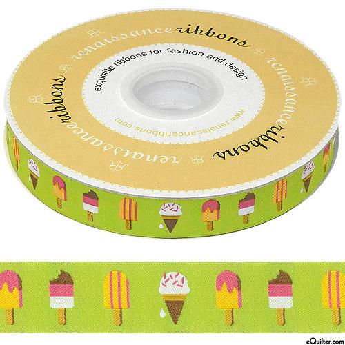 "Popsicles - 7/8"" Ribbon - Lime Green"