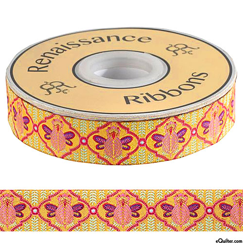 "Tula Pink - Bumble Bee - 7/8"" Ribbon - Marigold"