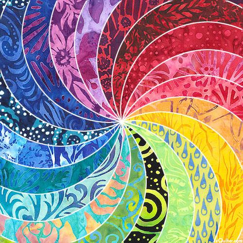 "A Rainbow of Bright Batiks - 5"" x 43"" FAT Batik Strips"