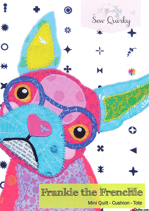 Frankie the Frenchie - Mini Applique Pattern by Sew Quirky