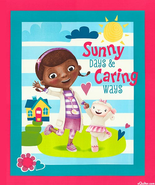 "Doc McStuffins - Sunny Days & Caring Ways - 36"" x 44"" PANEL"