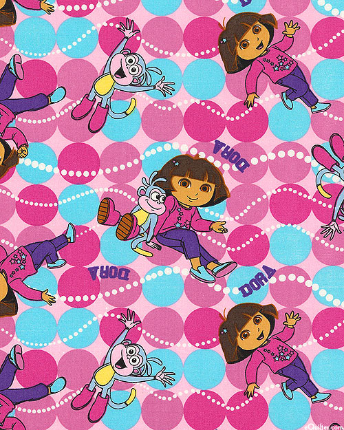 Dora Best Friends Toss - Dora and Boots - Retro Pink