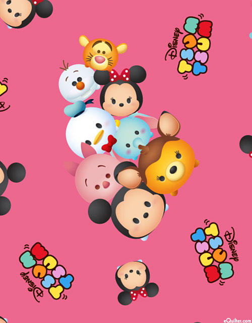 Tsum Tsum - Cartoon Bunch - Candy Pink