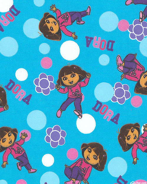 Dora - Steppin' Out - Turquoise - FLANNEL
