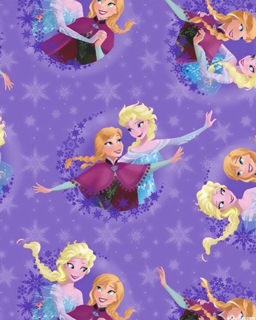 Frozen - Sisters in the Snow - Lilac Purple - FLEECE