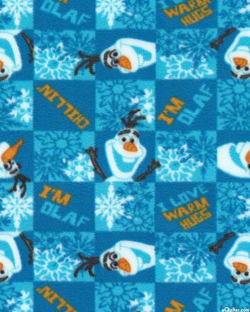 """Frozen - Warm Hugs for Olaf - Glacier Blue - 58"""" FLEECE"""