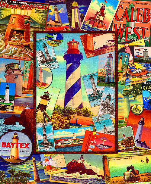"Retro Lighthouses - Travel Posters - 36"" x 44"" PANEL"