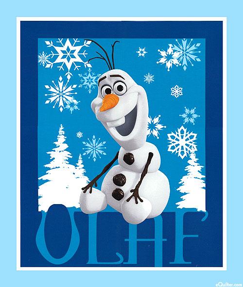 """Frozen - Olaf the Snowman - Glacier Blue - 36"""" x 44"""" PANEL"""