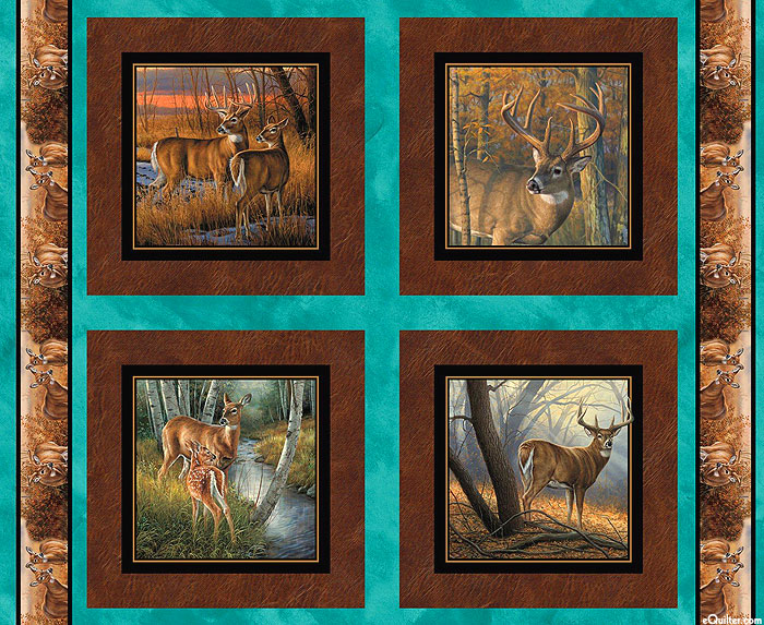 """Field Day - Whitetail Deer Frames - 36"""" x 44"""" PANEL"""