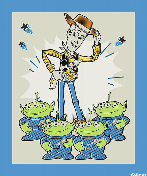 """Toy Story - Woody & the Aliens - 36"""" x 44"""" PANEL"""