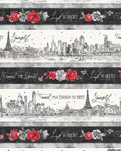 Travel The World - Finding Yourself Stripe - Pewter Gray