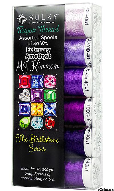 Birthstone Series by MJ Kinman - Feb Amethyst - Thread Set