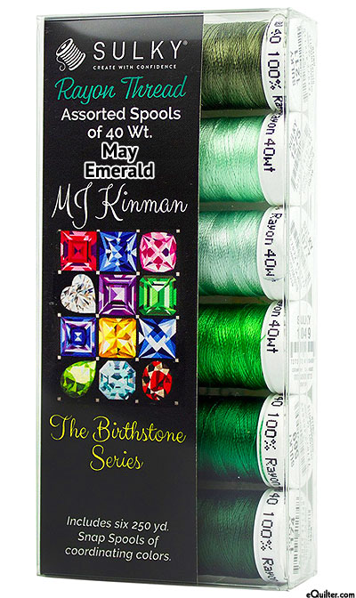 Birthstone Series by MJ Kinman - May Emerald - Thread Set