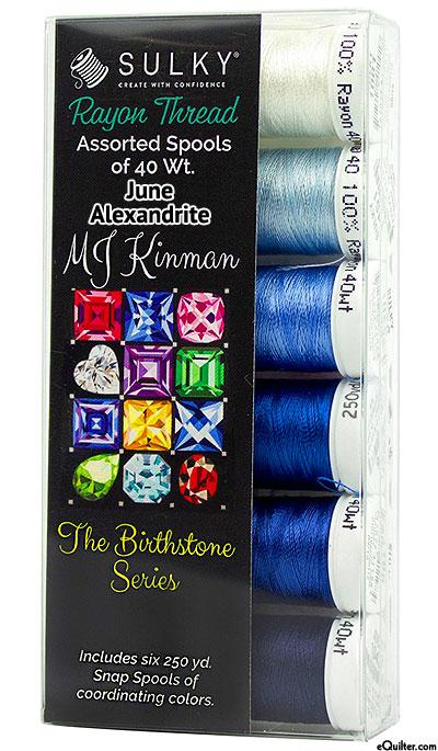 Birthstone Series by MJ Kinman - June Alexandrite - Thread Set