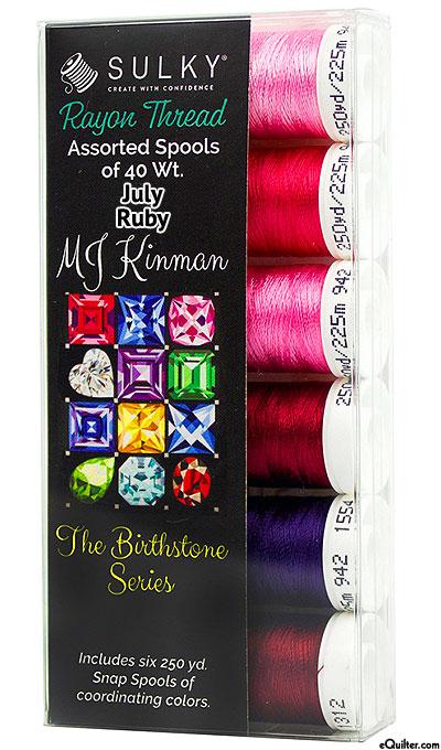 Birthstone Series by MJ Kinman - July Ruby - Thread Set