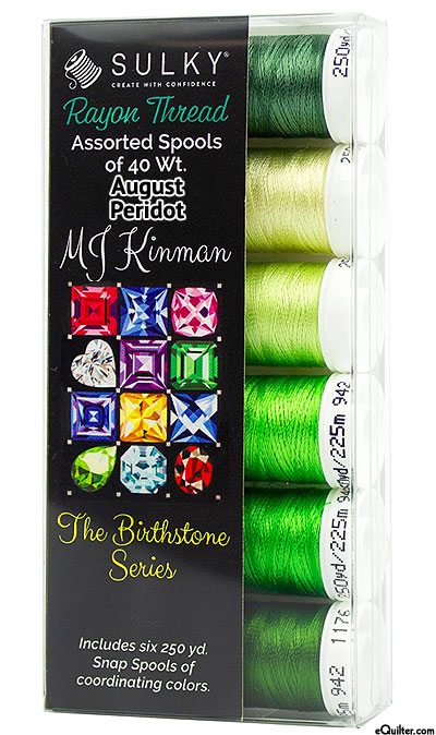 Birthstone Series by MJ Kinman - August Peridot - Thread Set
