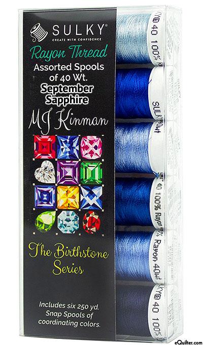 Birthstone Series by MJ Kinman - September Sapphire - Thread Set