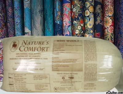 """Nature's Comfort Batting - 100% Natural Wool - Full 80"""" x 90"""""""