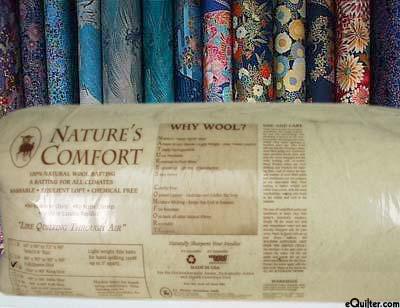 "Nature's Comfort Batting - 100% Natural Wool - King 108"" x 90"""