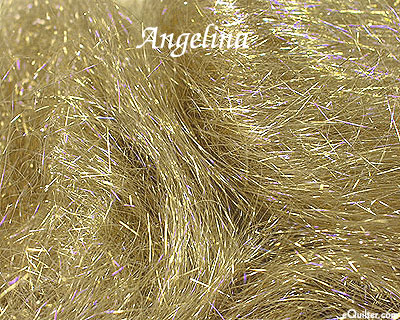 Angelina Fiber - Metallic Straight Cut Hot Fix - Gold Iris