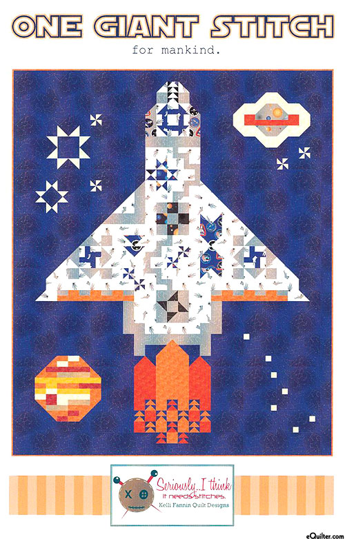 One Giant Stitch for Mankind - Quilt Pattern by Kelli Fannin