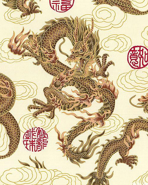 Elemental Dragon - Cream/Gold