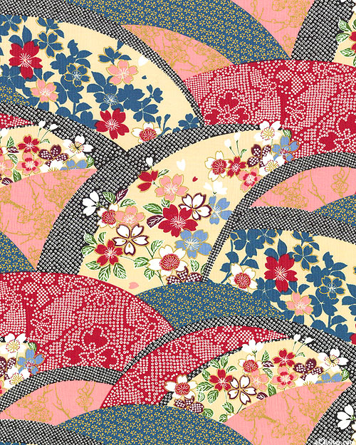 Blossom Festival Waves - Lacquer Red/Gold