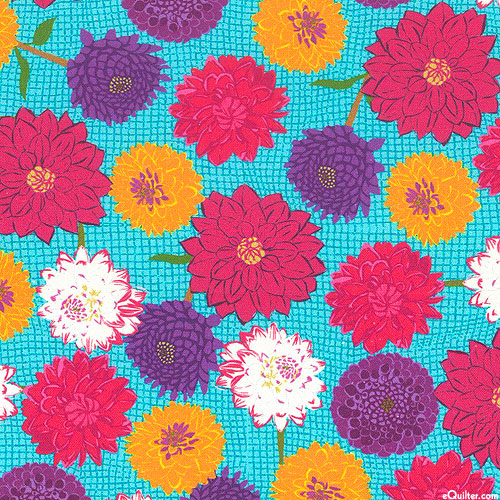 Wild About Flowers - Colorful Chrysanthemum - Azure