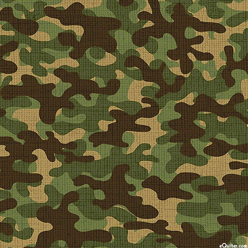 Camo - Sketched Camouflage - Olive Green