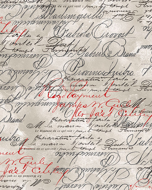 French Country - Provence Script - Fog Gray