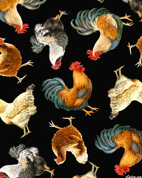 Farm Life - Prize Chickens & Roosters - Black