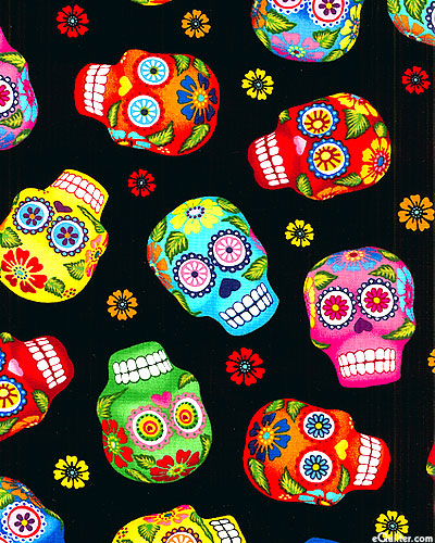 Cantina - Day Of The Dead Skulls - Ebony