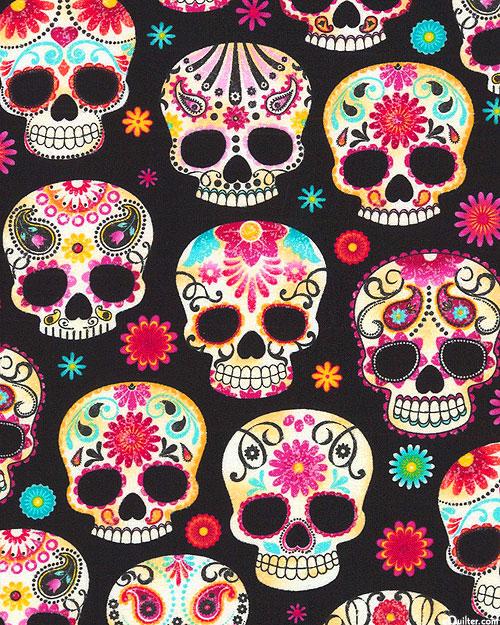 Halloween - Sugar Skull Celebration - Black