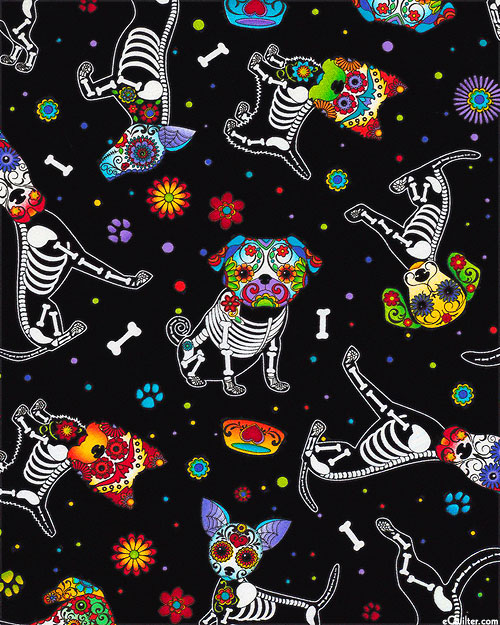 Day of the Dead Pups - Black