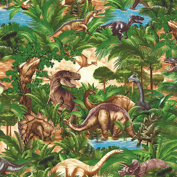 Dinosaur Adventures - Jungle Green