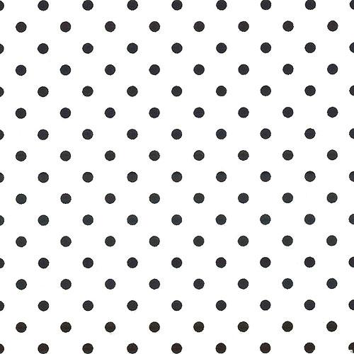 Retro Polka Dots - White