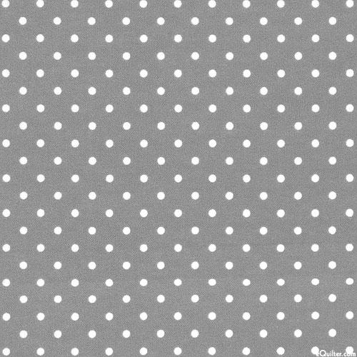 Polka Dot - Pewter Gray - FLANNEL