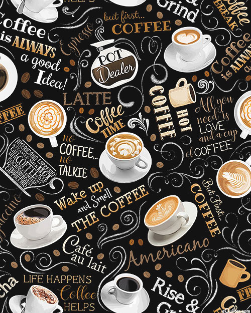 Back To The Grind - Love My Latte - Black